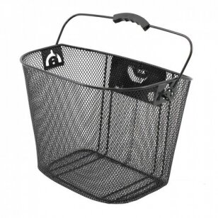 Krepšelis priekiui Azimut su plastikiniu NEW laikikliu BLACK 35x26x26cm