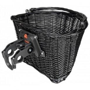 Krepšelis priekiui Azimut Wicker NEW laikiklis 35x26x22cm black