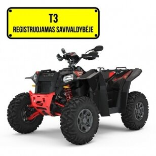 POLARIS SCRAMBLER XP 1000 S EPS - BLACK PEARL T3B KETURRATIS (MINI TRAKTORIUS)